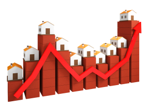 Graph houses up & down buying