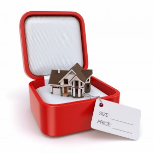 Red Gift Box with House