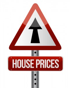 Road Sign House Prices Up Arrow