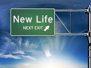 Road Sign New Life Next Exit