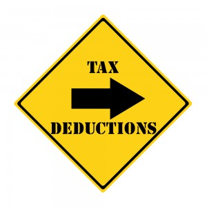 Sign Yellow Tax Deductions