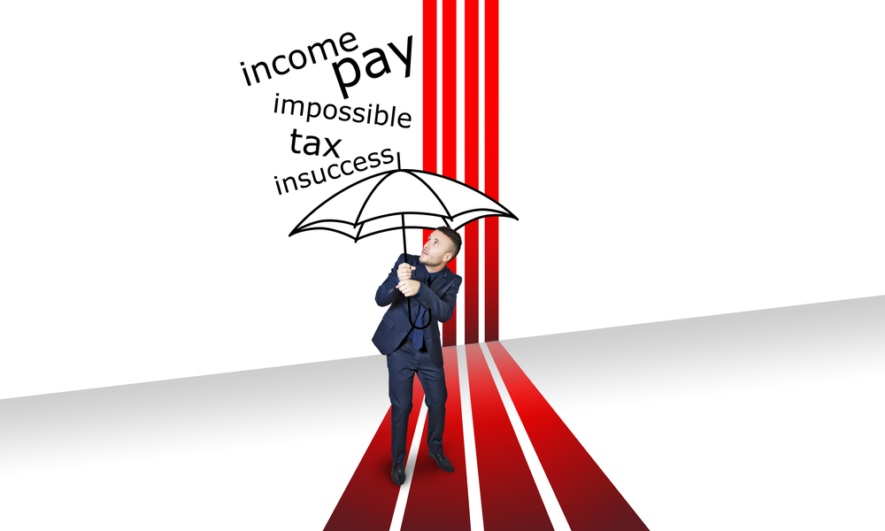 Umbrella Taxes Man Fear