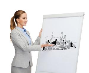 Women Present Building Plans Vision